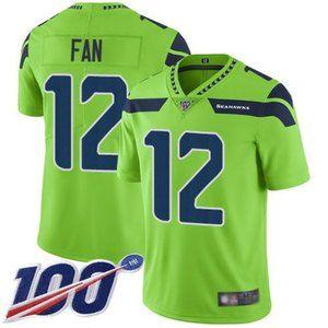 Seahawks 12 Fan 100th Season Jersey 3